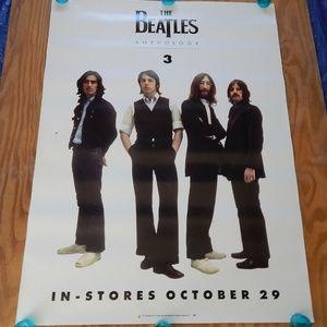 Beatles Anthology 3 In Stores Vintage Promo Poster